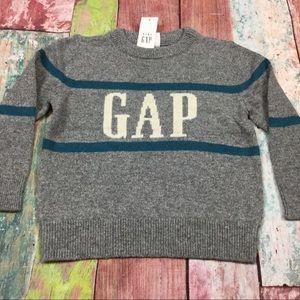 Gap Boys 2T, 3T Gray Gap Logo Sweater